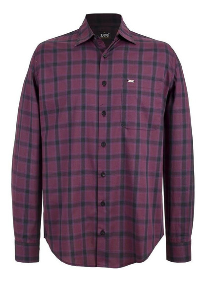 Camisa Casual Lee Hombre Manga Larga H62