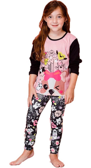 Pijama Para Nena Simones 1128 Talles 4 Al 10