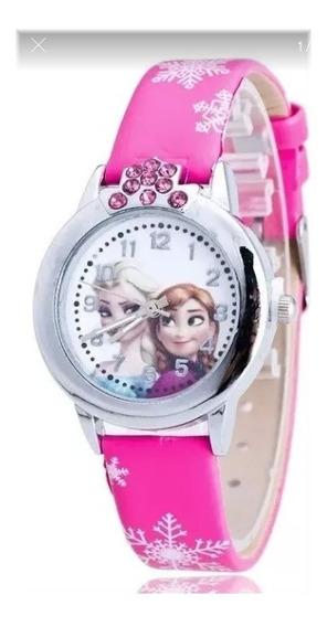 Relógio Frozen Princesa Anna E Elza Com Strass (promoção)