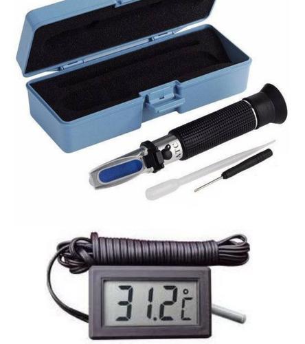 Refratômetro De Salinidade Para Aquário Marinho Salinômetro