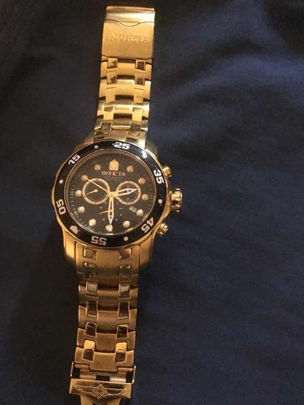 Relógio Invicta Banhado A Ouro 18k. Original!