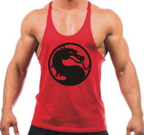 Regata Cavada Mortal Kombat Academia Fitness Masculina