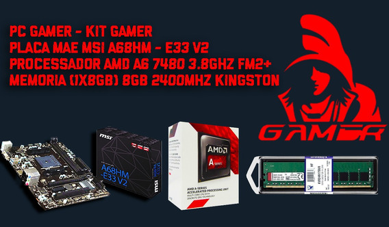Kit Gamer Msi A68hm-e33 V2 + Amd A6 7480 Mem. Ddr4 8gb King