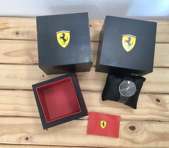 Relógio Ferrari Preto Slim Original Masculino