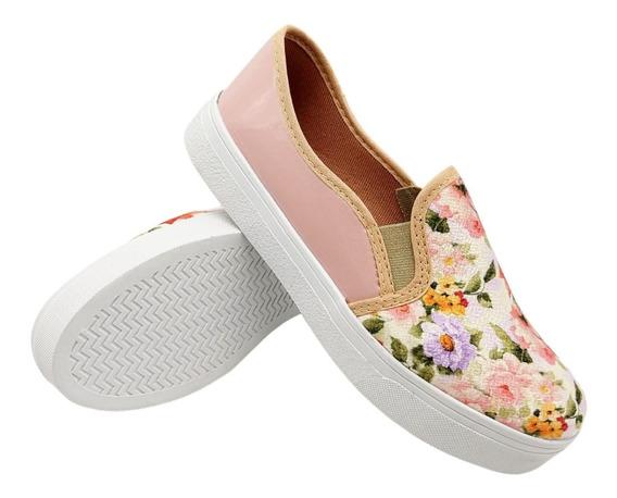 Tênis Feminino Floral Estampado Confortável Cod: 122