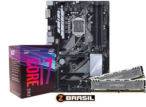 Kit Gamer Placa Z390-p Asus + Proc. I7 9700k + 16gb Ddr4