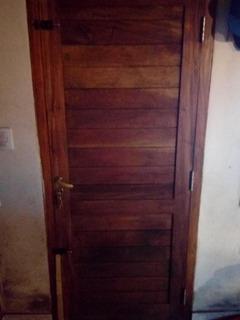 Puerta Frente Guayubira Con Cerradura Incluida (sin Marco)