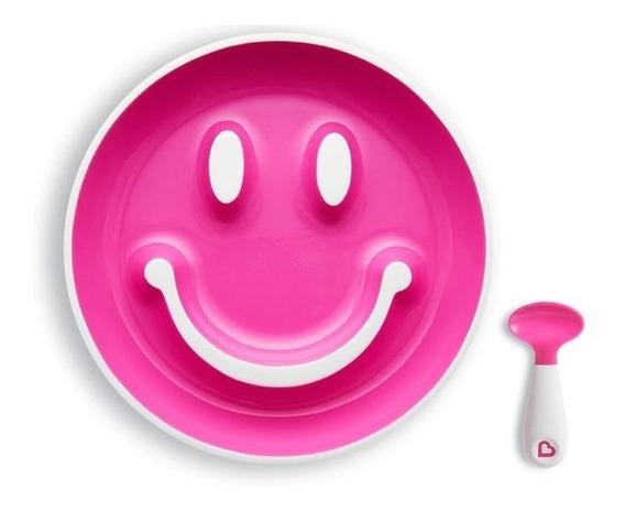 Prato Smile C/ Ventosa E Colher, Munchkin + Brinde