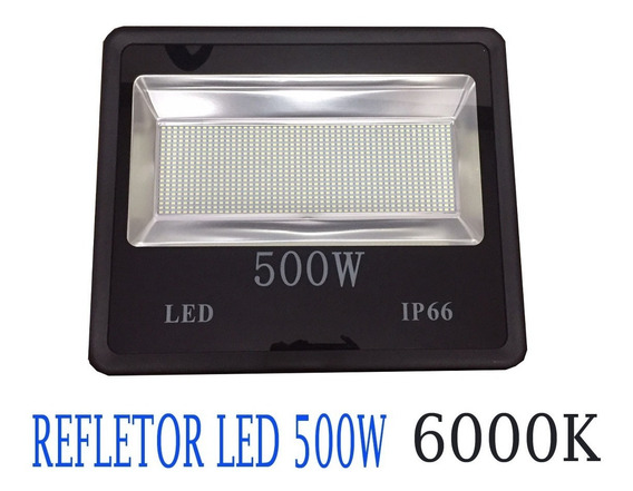 Refletor Holofote Led 500w 6000k Branco Frio Ip66 13388