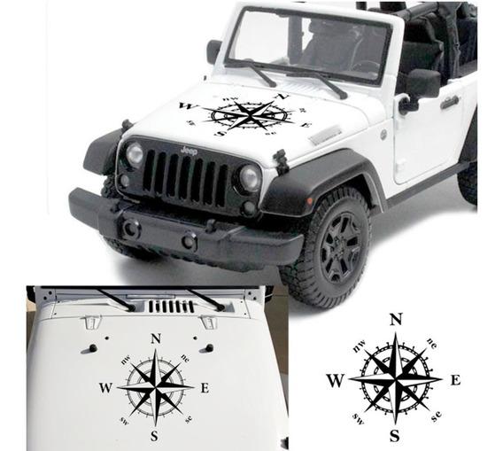 Adesivo Capo Carro Jeep Renegade Rosa Dos Ventos Bussola