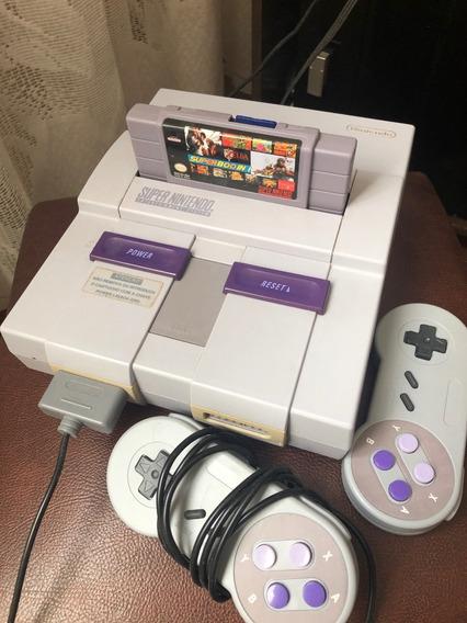 Super Nintendo Original + 2 Controle + Fita 800 Jogos+ Cabos