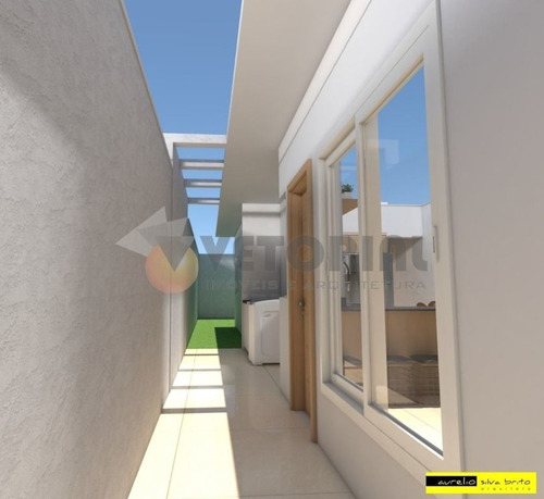 Imagem 1 de 9 de Linda Casa Nova 2 Dormitórios Golfinho - Ca0646