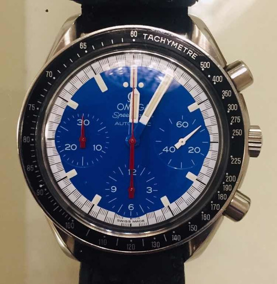 Magnífico Omega Speedmaster Schumacher Azul 1988 - Raro