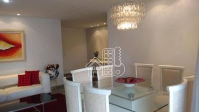 Apartamento Com 4 Dormitórios À Venda, 160 M² Por R$ 1.370.000 - Icaraí - Niterói/rj - Ap2184