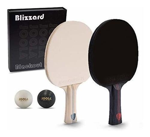 Joola Blizzard & Blackout  Juego De Paletas De Ping-pong De