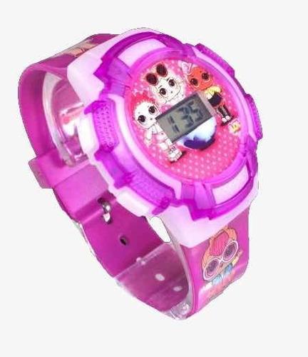 Relógio P/ Meninas Lol 3d Com Luz Led Colorida E Toca Música