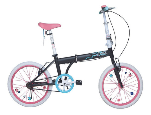 Bicicleta Bia Rodado 20 Plegable Cuadro Para Adultos Disney