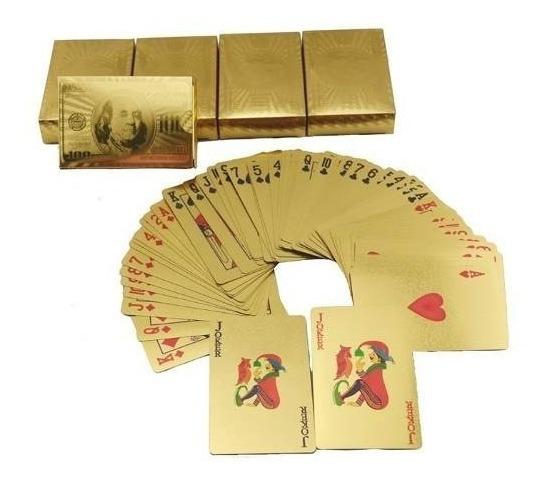 2 Baralho Dourado Ou Prata Poker Truco Cartas