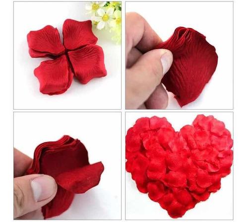 Pétalos De Rosa Artificiales De Color Rojo 100 / Unidades