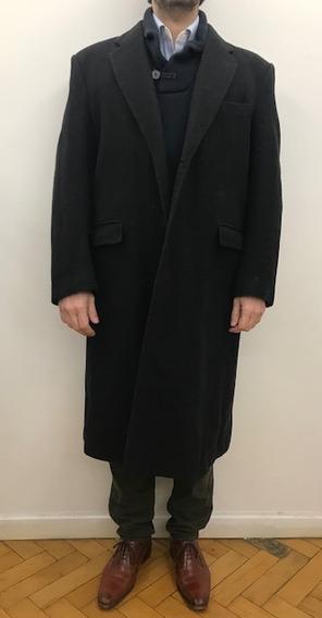 Saco Tapado Abrigo Pana Hombre Gris Oscuro De Vestir
