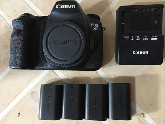 Canon 6d + 4 Baterias E Carregador Original