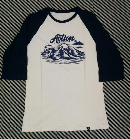 Camiseta Raglan 3/4 Action Clothing