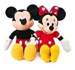 Kit C/ 5 Bonecos De Pelúcia Mickey E Minnie 28 Cm