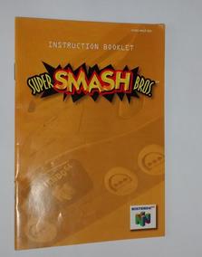Lote 4 Manuais Super Smash Bros Mario Kart Mario Nintendo 64