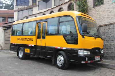 Transporte Institucional, Escolar, Recorridos Empresas Quito