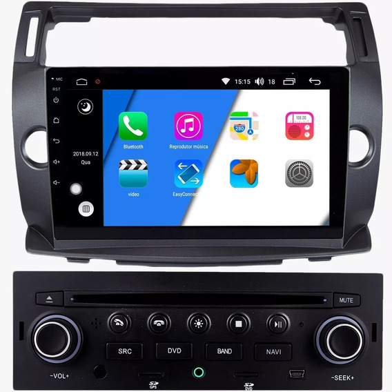 Central Multimidia C4 Hatch Android - Acessórios para