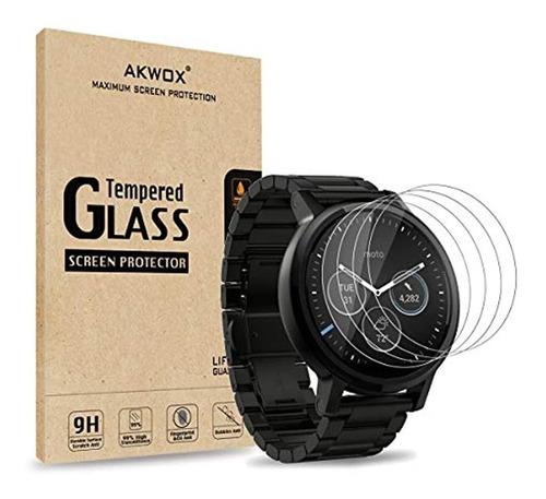 Imagen 1 de 7 de Protector De Vidrio Templado Para Reloj Motorola 360-akwox