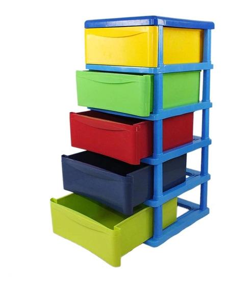 Cajonera 5 Niveles Plastico Resistente Multicolor Jumbo A