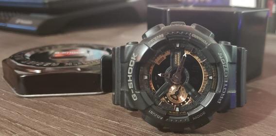 Relógio Casio G-shock - Ga-110 Rg-1adr - Preto/rosé Gold - 100% Original!!