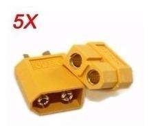 Plug Conector Xt60 5 Pares (5 Machos / 5 Fêmeas) Aeromodelo