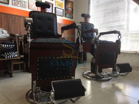 Kit Com 2 - Cadeira De Barbeiro Restaurada Com Frete Grátis