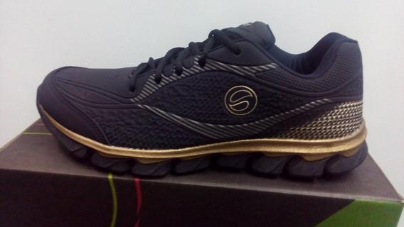 Tenis Lynd Jogging 495-93 Preto/ouro