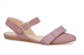 Flat Andrea Ankle Strap Color Morado 2601366