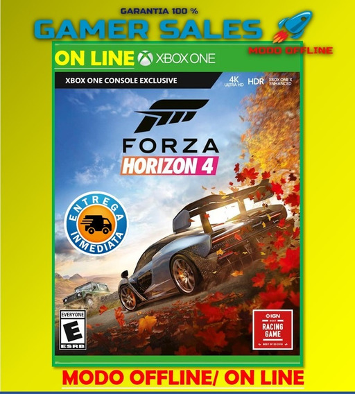 Forza Horizon 4 Estandar Xbox One Digital Offline No Código