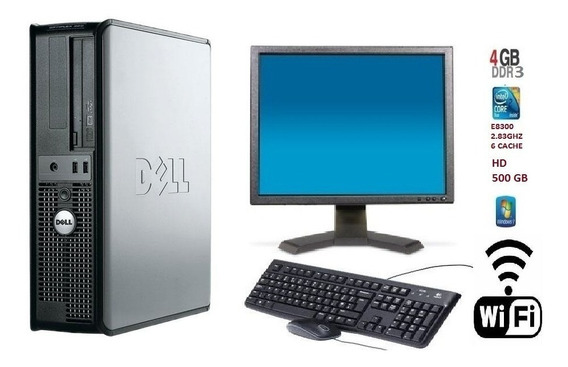Kit Pc Dell 380 Core 2 Duo E7500/ 4gb Ddr3 / Hd 500 Gb Wi-fi