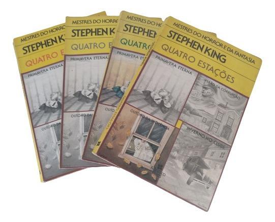 Quatro Estações - Stephen King - 4 Volumes - Muito Raro