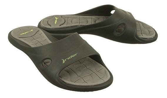 Sandalias Rider Unisex Negro Gris Slide Feet V F 8145923493