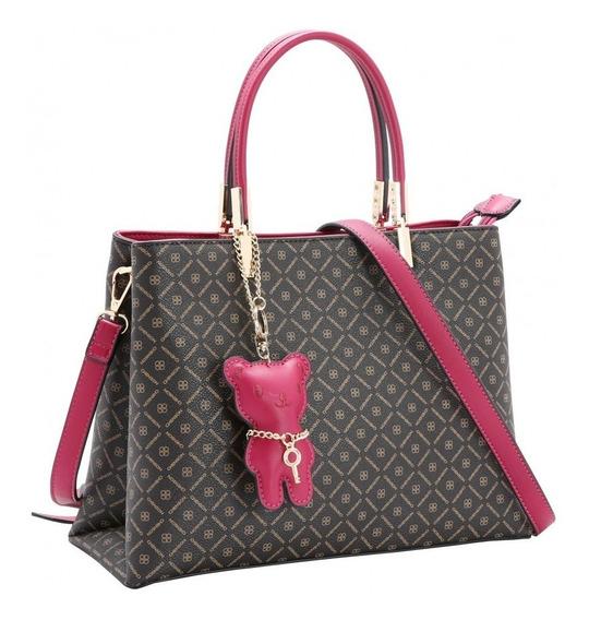 Bolsa Chenson Em Couro Ecológico Branca Ou Pink 3482264