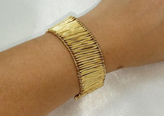 Pulseira Hstern Coleção Indiado Em Ouro Amarelo 18k 750
