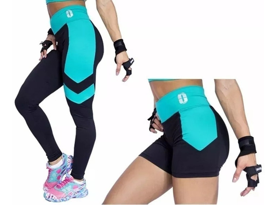 Kit Legging + Short Cintura Alta Modelador Suplex Academia
