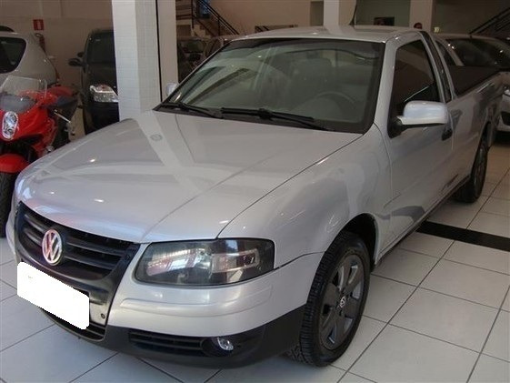 Volkswagen Saveiro 1.6 Mi Surf G.iv Prata 8v Flex 2p Manual