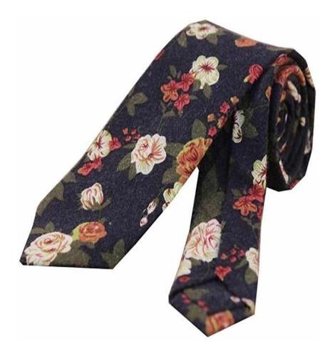 Imagen 1 de 7 de Corbata Estampado Floral Slim