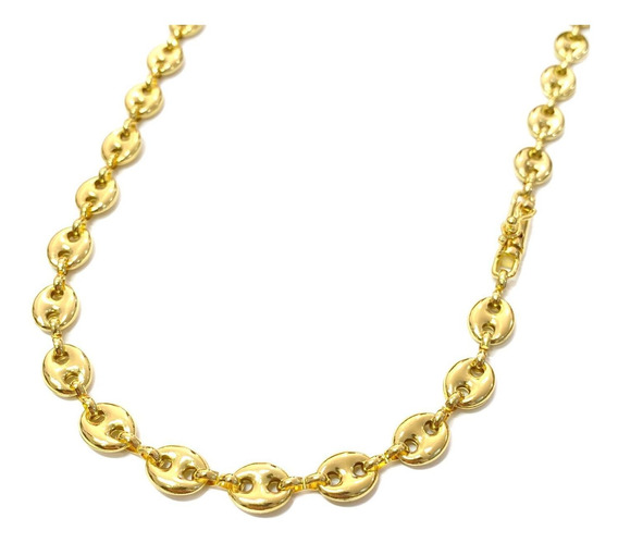 Corrente Masc Gucci Link 60cm Banho Ouro 18k Frete Gratis