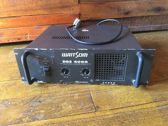 Amplificador De Potência Ciclotron Dbs 4000 Wattsom 1000w