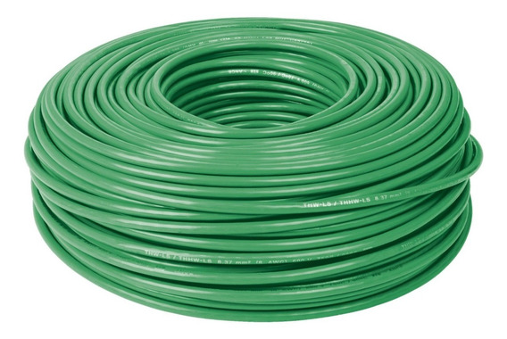 Cable Thhw-ls 8 Awg Verde Rollo 100 M Cab-8v 46062