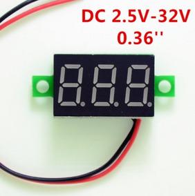 Voltimetro Digital Display Vermelho 2,5 A 32v 3 Dígitos